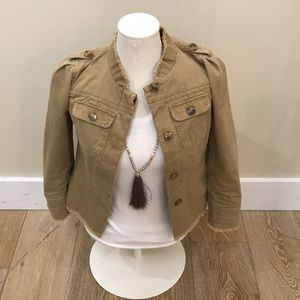 Loft Frayed Military Jacket